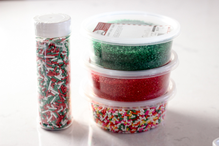 stack of Christmas sprinkles