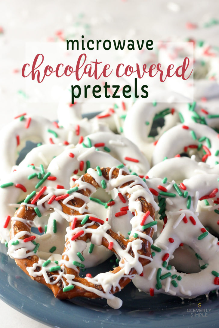 Microwave easy chocolate covered pretzels