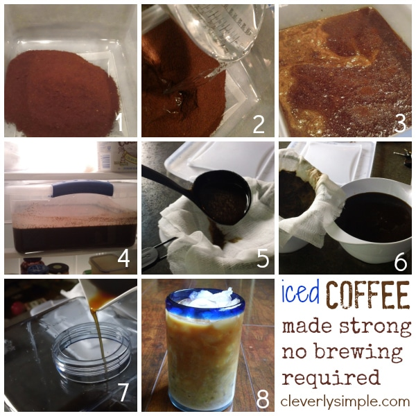 How to Make Iced Coffee No brewing