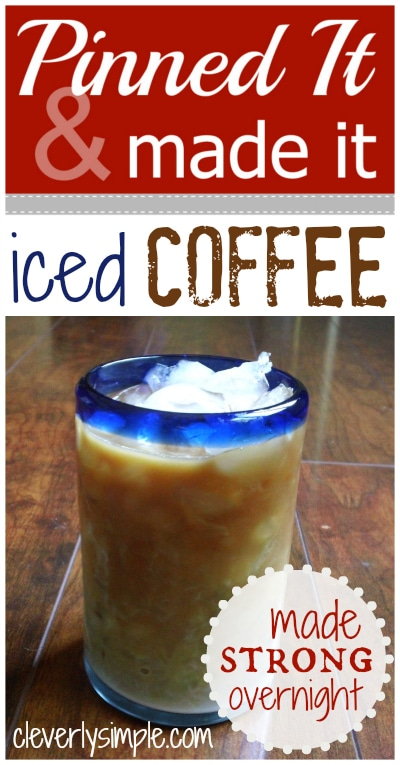 How to make strong Iced Coffee