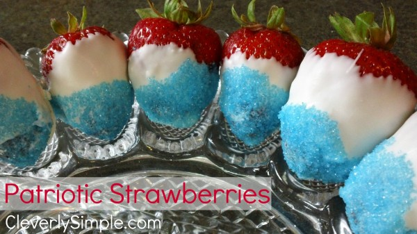Red White and Blue Patriotic Strawberries
