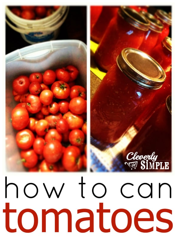 How to Can Tomatoes - Easy
