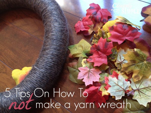 How to Not Make a yarn Wreath