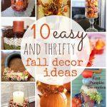 Fall Decor Ideas Thrifty Easy