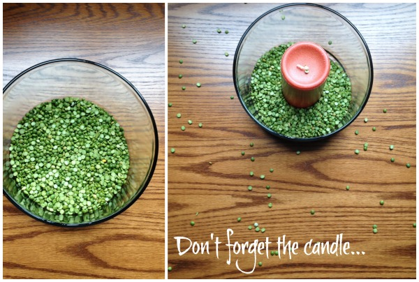 Fall centerpiece Add Candle First