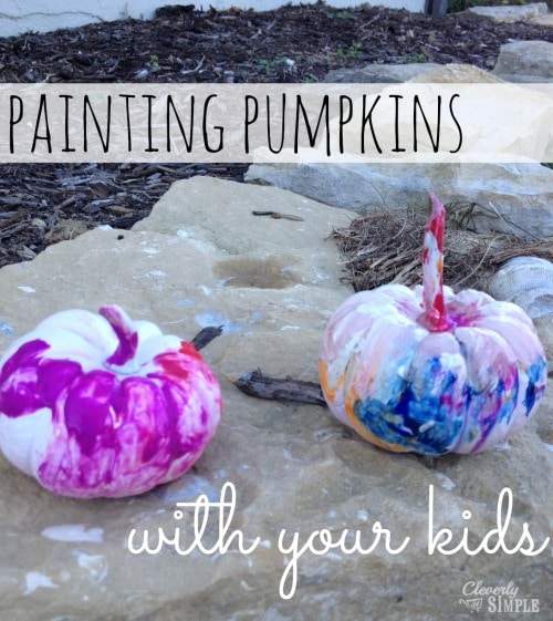 Painting Pumpkins with Your Kids