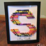 Crayon Letters DIY Gift Idea