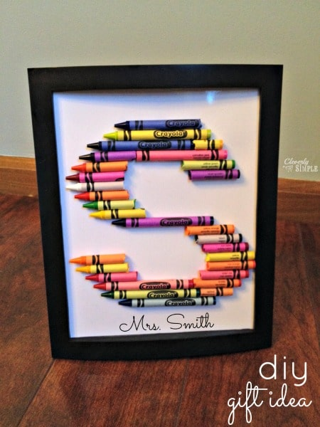 DIY Crayon Letters DIY Gift Idea