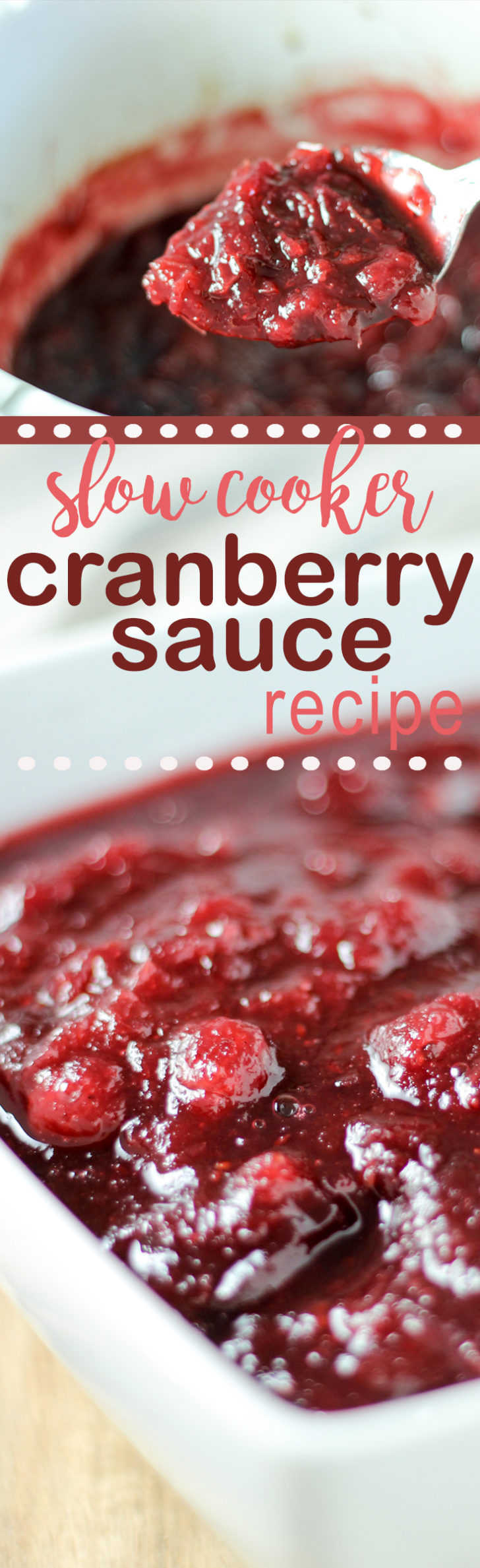 cranberry sauce made in the slow cooker