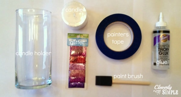Supplies for DIY Candle Gift