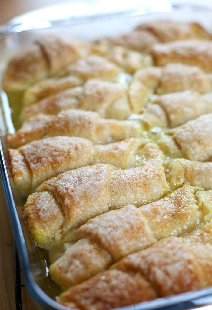 Apple Dumpling Recipe with Mountain Dew In Pan