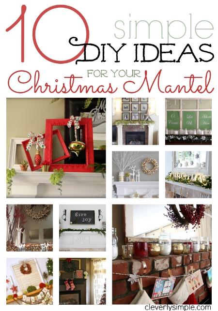 DIY Ideas for Christmas Mantel