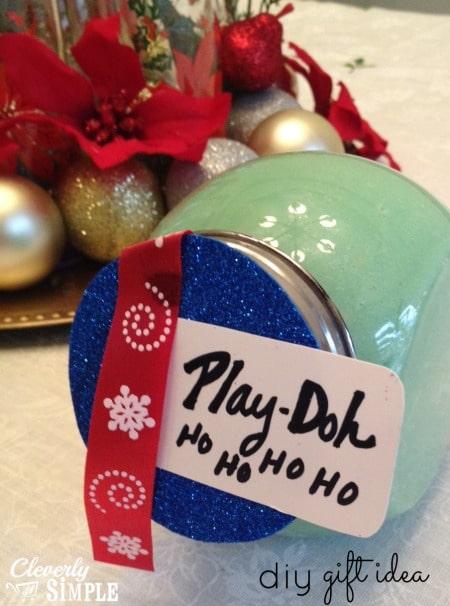 Homemade Play doh DIY Gift