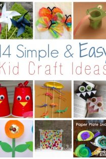 14 Simple and Easy Kid Craft Ideas