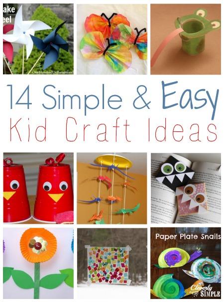 14 Simple And Easy Kid Craft Ideas Simple Recipes Diy Tutorials