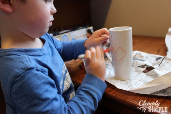Crafts Boy Kids Arts and Crafts Sharpie Mug Artwork