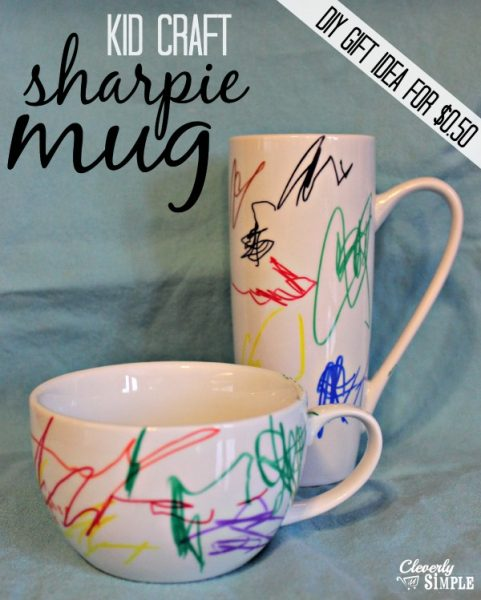 Simple Kid Craft Sharpie Artwork on Mug
