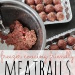 easy recipes with ground beef freezer cooking meatballs