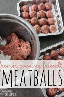 Easy Meatball Recipe for Freezer Cooking