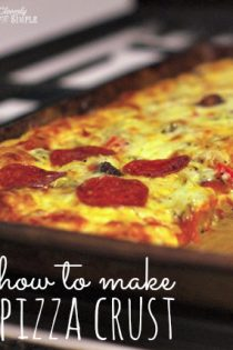 How To Make Pizza Crust | One Bowl Pizza Crust with Cornmeal
