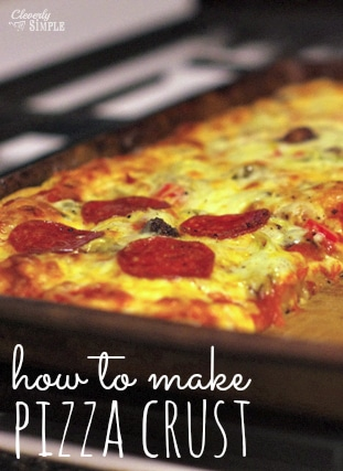 how to make pizza crust recipe easy