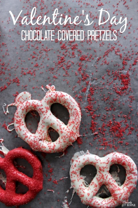 Chocolate Covered Pretzels Recipe For Valentine S Day Cleverly Simple