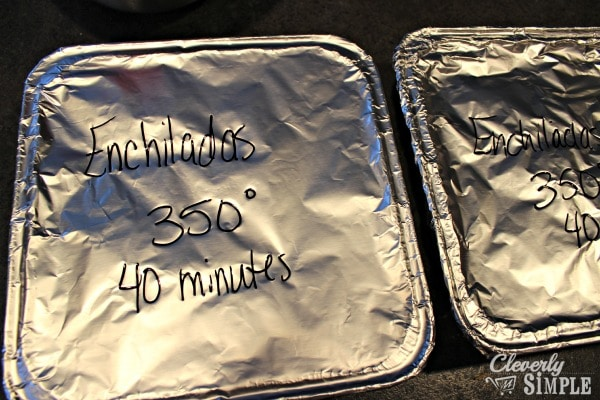 enchilada casserole recipe in freezer bins