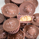 plate of homemade peanut butter cups