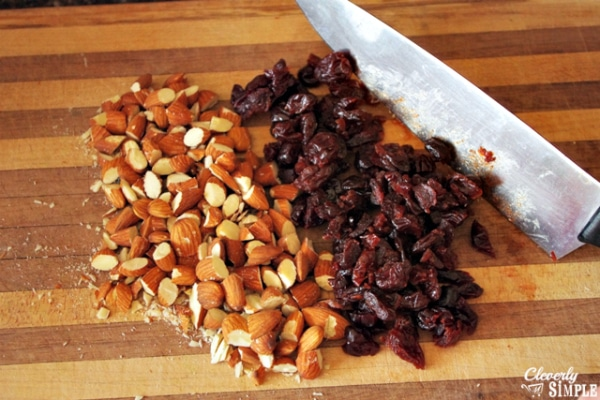 Healthy Granola Bars Recipe Almonds and Cranberries