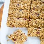granola bar recipe in pan