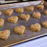 healthy oatmeal cookies ready to bake