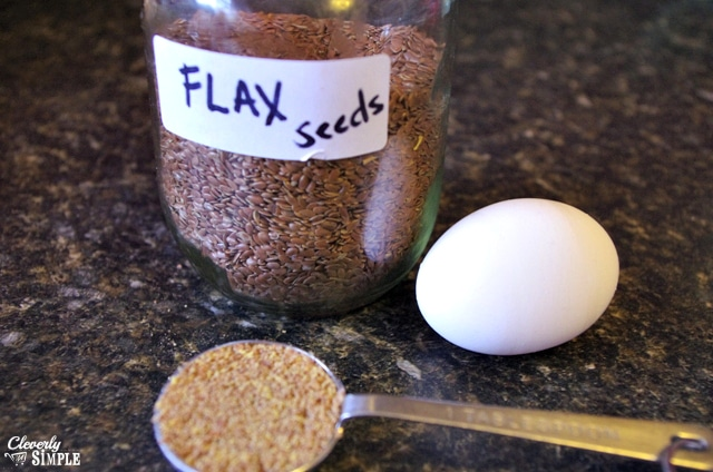how to replaced egg with flax seed