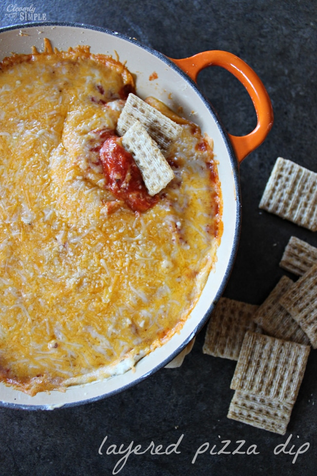 layered pizza dip recipe easy