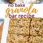 granola bar recipe no bake