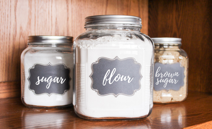 sugar and flour jars