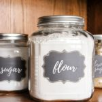 flour and sugar canisters