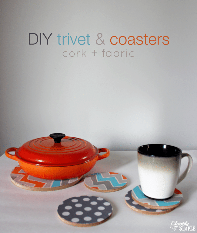 how to make your own coasters and trivets using fabric and cork