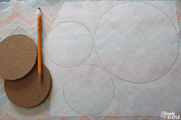 tracing for homemade trivets and coasters using heat n bond