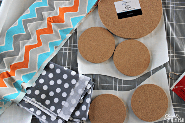 using fabric to make trivets and coasters