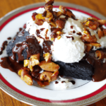 candied almonds recipe on blackened brownie
