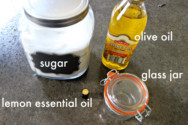 homemade sugar scrub recipe ingredients
