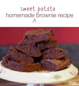 homemade sweet potato brownie recipe