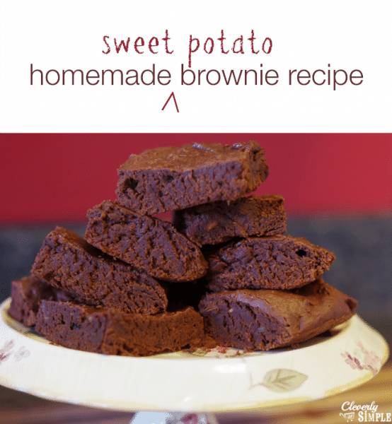 homemade sweet potato brownie recipe