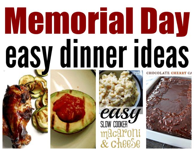 memorial day easy dinner ideas simple recipes diy tutorials