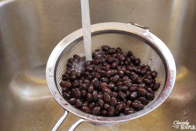 rinse black beans before making black bean burgers
