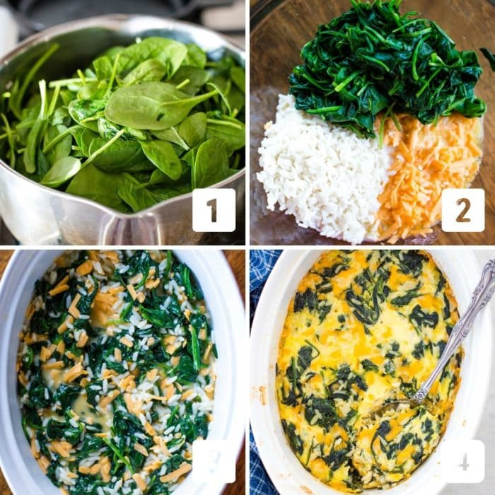 step by step photos of how to make the casserole