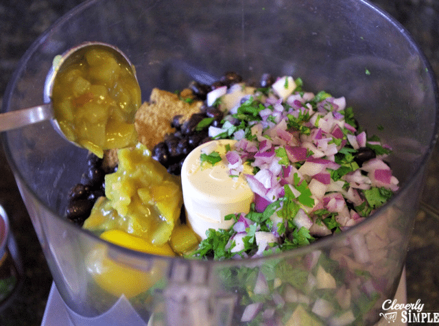 using food processor to make black bean burger recipe