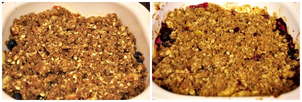 Fruit crisp before and after