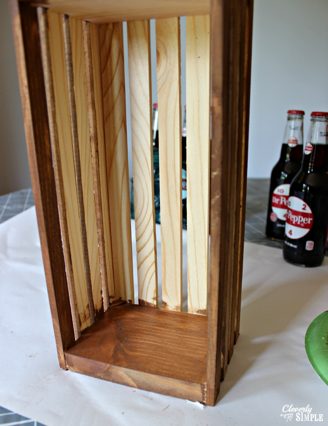 How to use acrylic paint to make a stain like appearance on wood #shop
