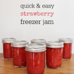 easy homemade strawberry freezer jam made with sure jell pectin